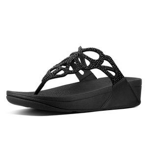 fitflop Bumble Crystal ST Leather Studded Sandals